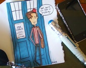 Doctor Who Birthday Card - Eleventh Doctor - Not 1100 yet