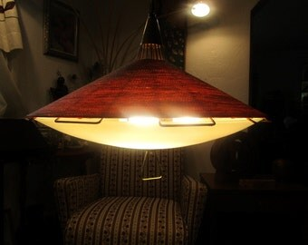 Large UFO Flying Saucer pendant kitchen light fixture Amazing high quality and rare