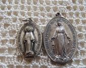 Vintage Miraculous Medals 2 Pc.