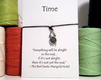 Time Clock Make a Wish Bracelet
