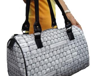 Handbag Doctor bag Satchel Computer Keybaording Technology Pattern US handmade Cotton Fabric Bag Purse, new