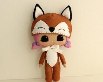 Peek-a-Boo Fox pdf Pattern - Instant Download