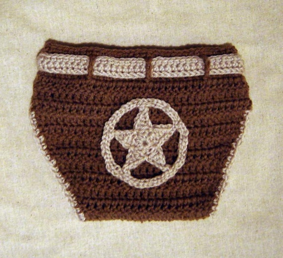 Baby Diaper Cover With Appliques Of Football, Sheriff