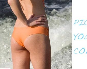 Pick Your Color  Deja Cheeky Bikini Bottoms- Sz Sml- XL BOTTOMS Only