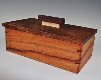 Padauk, Sapele and Purpleheart Jewelry Box