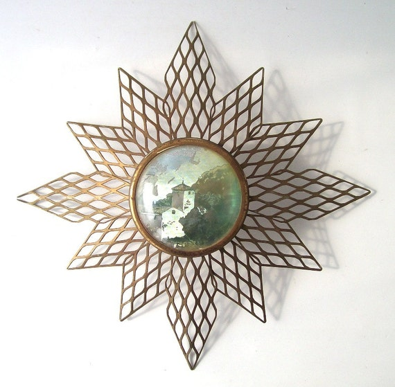 Vintage Star Wall Decor : Vintage wall hanging star artwork art metal by