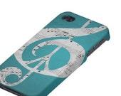 Music & Peace Aqua Case, iPhone Case, 5, 4S, 4, Protective, Sleek, Slim, Aqua, Turquoise, Black, White, Gray, Glee