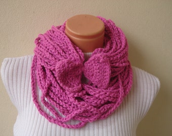 Crochet scarf Infinity Scarf Necklace Crochet Chain Women's accessories gift for her