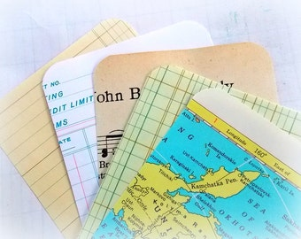 Vintage Journal Paper Card Tags  / Project Life / 10 Pieces / Daily Planner / Pocket Letters