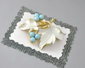 "Grape Leaf Brooch Vintage Sarah Coventry ""Placid Beauty"""