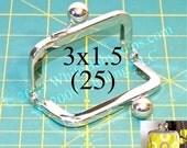 25% OFF 25 Nickel-free 3x1.5 metal purse frame