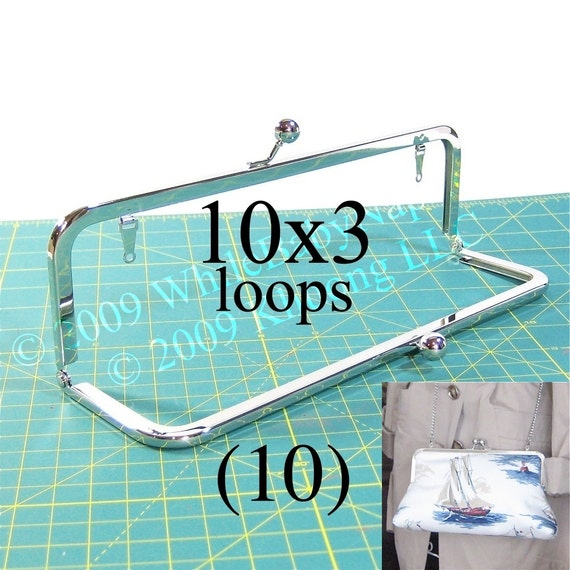 17% OFF 10 Nickel-free 10x3 purse frame kisslock with LOOPS