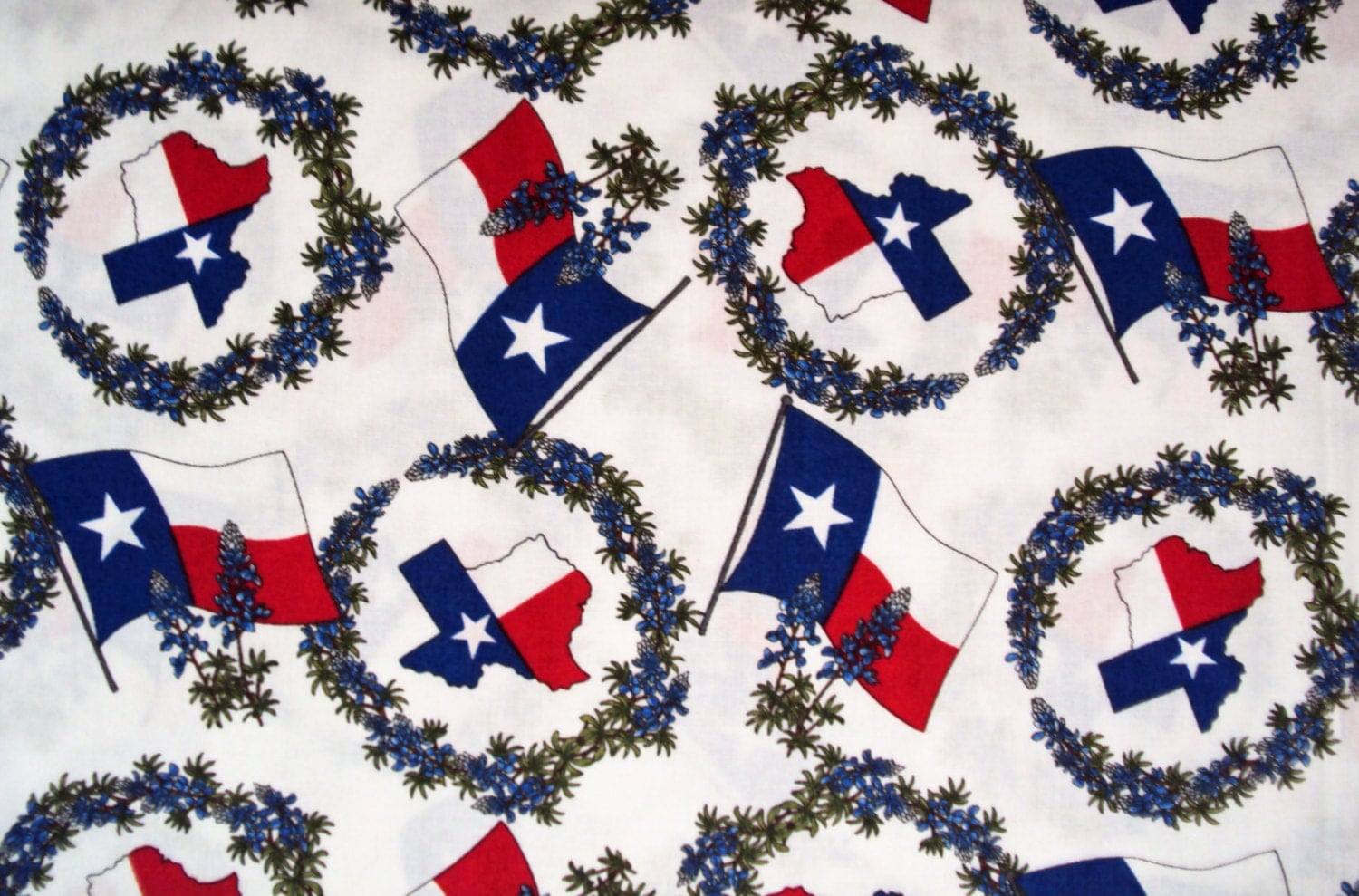 Bluebonnets Texas Moda Western Quilt Fabric Cowboys Horses Red