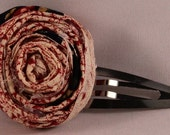 Fabric Rosette Barrette