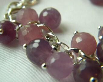 Faceted Purple Jade Cha-Cha Bracelet