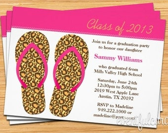 Flip Flops Class of 2017 High School/College Graduation Card - Print at Home or E-card