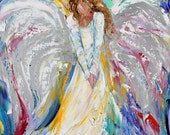 Fine Art Print made from image of oil painting by Karen Tarlton - Guardian Angel of Love