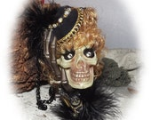 Witchy Woman Skull Ornament
