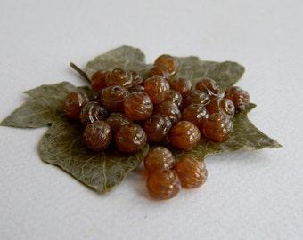 Czech Picasso Beads, Czech Glass Beads, Snail Beads, 8mm Opal Honey & Metallic Speckled Picasso (25pcs)