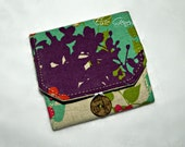 Japanese LInen Purple Aqua Pink CF Camera Memory Card & Credit Card Holder Case OR Choose Any Fabric in My Shop Custom Order