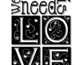 All we need is love is all we need wall decal