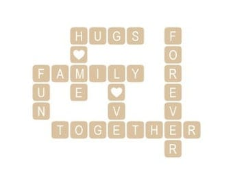 """Game Tile family together forever wall decal 20 x 15.5"""""""