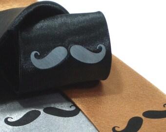 Men's Moustache Tie - Premium Quality Microfiber Necktie - Gift wrapped - Choose color and quantity