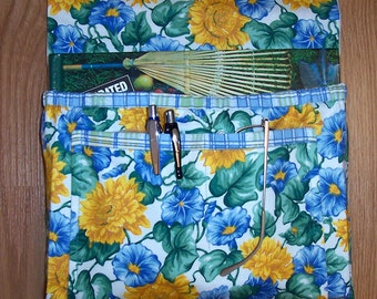 Yellow and Blue Floral Bedside Pocket Pouch