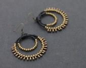 Black Chandelier Drop Earrings