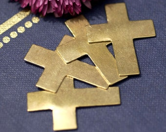 Brass Blank Religious Cross Metal 36mm x 27mm Blanks Shape Form
