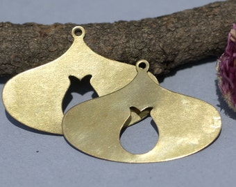 Brass or Copper 26g Blanks Hoops Arabic Tulip Hoop Shape Cutout Blank for Metalwork Stamping Texturing