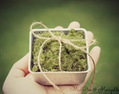 Ring Pillow, mossy and vintage woodland wedding