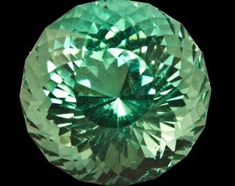 Prasiolite 9.5mm Portuguese Cut 3.47 carats flawless