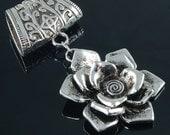Scarf Pendant - Beautiful Silver Rose Scarf Jewelry