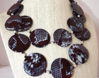 Snake Print Necklace