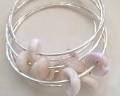 Make Your Own Sterling Silver Puka Shell Bangle 14 or 12 Gauge Thick
