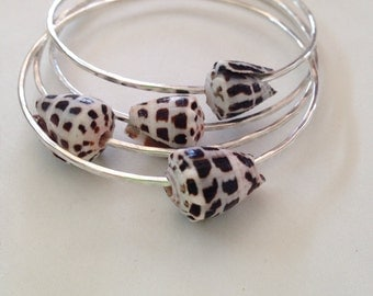 Make Your Own Sterling Silver Hebrew Cone Shell Bangle 12 or 14 Gauge Thick