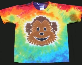 Rainbow Monkey Tie Dye Tee