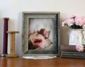 Framed Pink Rose Photograph - rustic frame barn wood victorian vintage ready to hang 11x14 frame 8x10 photograph