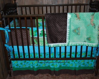 Little Boys Frog-Turtle Baby Bedding----Ready to Ship