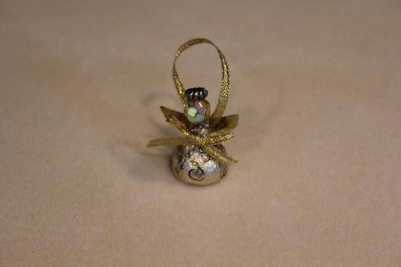 Gold hershey kiss angel ornament