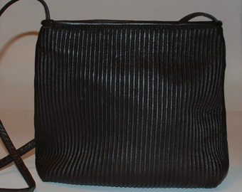 Vintage 90s Leather Bag/Purse Chocolate Brown Textured SM
