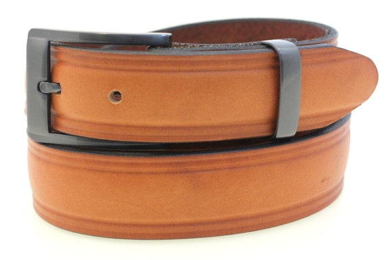 s 1 1 4 domed dress belt light brown by