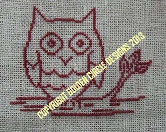 Red Owl Cross Stitch Chart