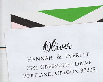 Custom Rubber Stamp - Self Inking Address Stamp - Oliver