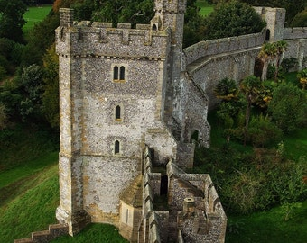 Fine Art photography, Arundel Castle wall, England, UK, stone, vintage, 8x10