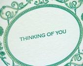 SALE - Sympathy Letterpress card - Ambrose