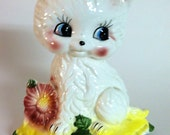 Adorable - Handpainted Vintage Ceramic Kitten 1960s 70s Made in Japan - Sweet