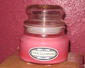 Amber Romance type Scented Apothecary Candle with Bubble Lid, 10 oz.,