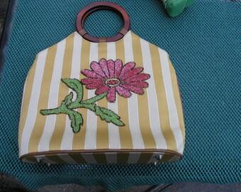 Beaded Flower Handbag 1980's ISABELLA FIORE  Handbag / Purse.